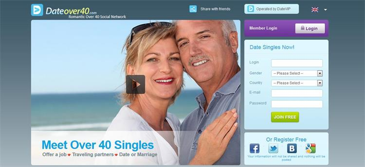 Over 40 singler Dating Sites