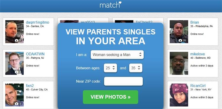 Single parent match dating sites